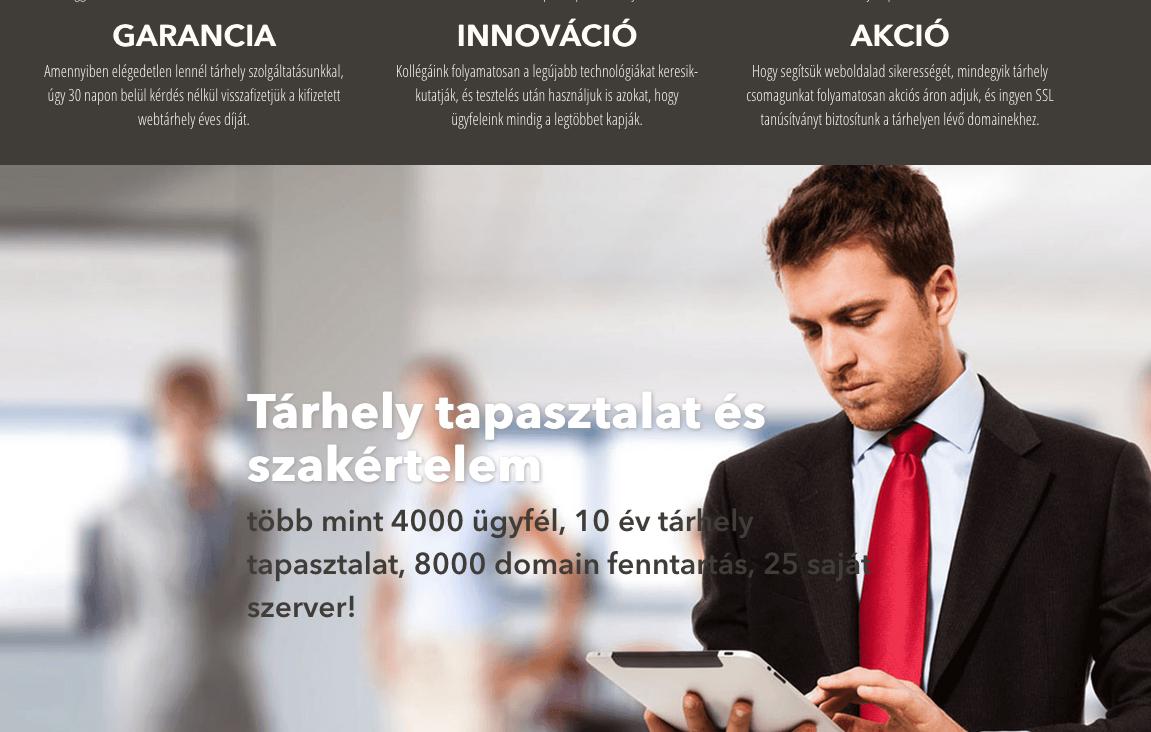 webáruház tárhely